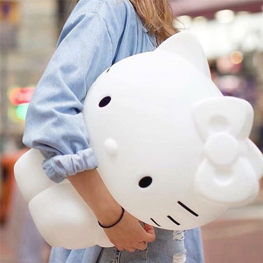 Hello Kitty Led Night Lights Dimmable Baby LED Night Lamps Bedroom Animal Cartoon Decorative Lamp Bedside Living Room Y3 rabbit lamp led table light for baby children kids gift animal cartoon decorative lighting bedside desk bedroom living room
