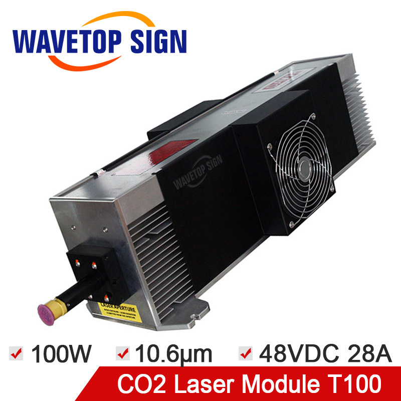Free Shipping CO2 <font><b>Laser</b></font> Module <font><b>100W</b></font> RF <font><b>Laser</b></font> Module T100 <font><b>100W</b></font> Wavelength 10.6nm Input Power Supply DC48V 28A image