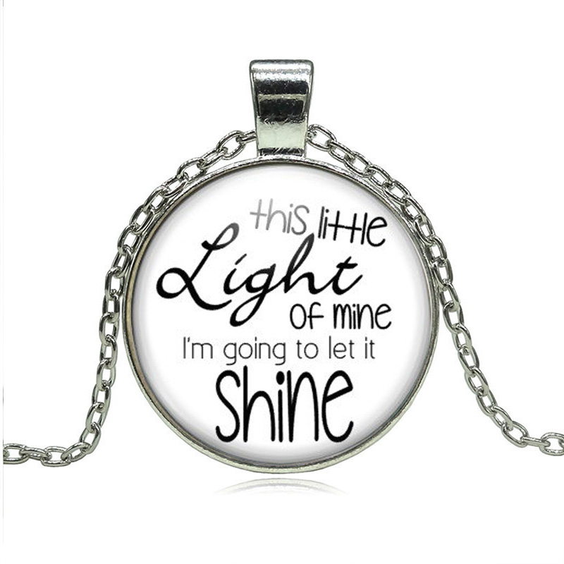 JEPHNE This Little Light of Mine Necklace Christian Songs Vacation Bible School Church Friend Gifts Religious Women Men Jewelry image