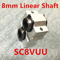 Free Shipping NEW 8mm Bearing Bushing SC8V SC8VUU SCV8UU Linear Bearing Block For 8mm Linear Shaft