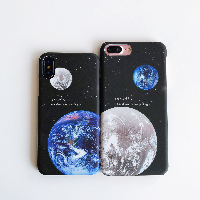KIP7P1253_2_JONSNOW Phone Case For iPhone 6 6S 7 8 Plus Earth Planet Starry Sky Patterns PC Hard Case for iPhone X XR XS Max Back Cover Capa Fundas