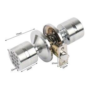 Image 4 - RAYKUBE topuzu dijital kod elektronik dış kapı kilidi Bluetooth APP şifre anahtarsız açılış giriş akıllı canlı su geçirmez IP65