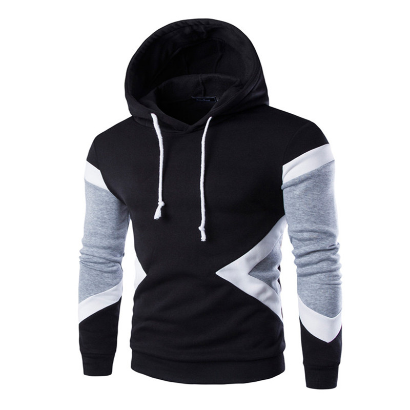 Sell like hot cakes Mens Hoodies Winter Pullovers Leisure Patchwork Colors Fashion Sweatshirts Hooded Coats Hoddies