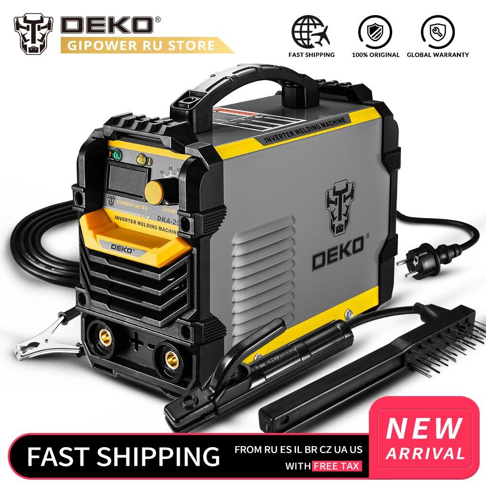 DEKO DKA-200Y 200A 4.1KVA onduleur Machine de soudage électrique à l'arc 220V MMA soudeur pour la maison bricolage tâche de soudage et travail électrique