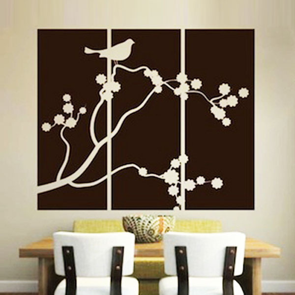 Aliexpress Com Buy Family Tree Wall Decal Bird Wall Stickers Wall Decorations Living Room Wall Sticker