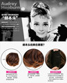 Same Audrey Hepburn Stylish Pony Tail Women Clip in on Hair Bun Hairpiece Synthetic Hair Extension and Blonde Hair Scrunchie