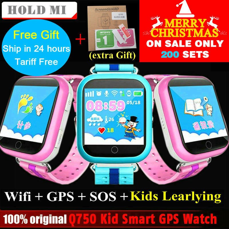 Hold Mi font b GPS b font Smart Watch Q750 Q100 Baby font b GPS b