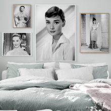 Princess Audrey Hepburn Movie Star Wall Art Canvas Painting Vintage Nordic Posters And Prints Pictures For Living Room Girl