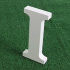 Artificial wood Wooden White Letters 15CM Alphabet wedding Home Decoration imitation wood letter Figurines Miniatures For Home
