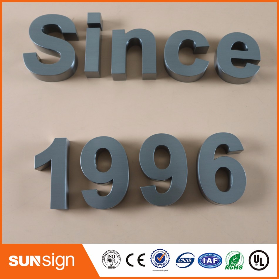 Sample Business Letter Decorative Stainless Steel Letter Sign