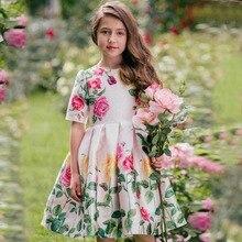 Flores Vestidos infantiles para niñas traje princesa vestido de fiesta, ropa de bebé niña Verano de 2019 niñas niño vestido niños Vestidos