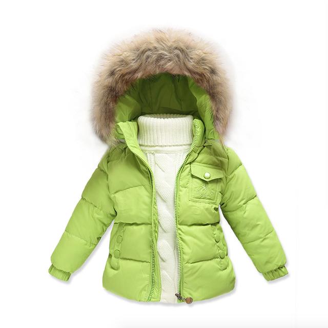 46bf4e69ba22 Hot Children Winter Down Jacket Boys Warm Outerwear Coats Girls ...
