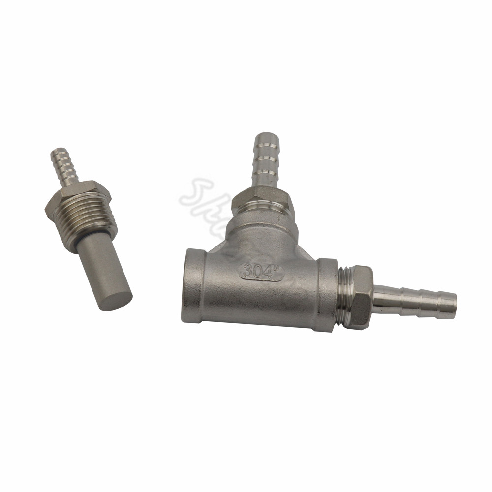 Homebrew Inline Brewing Stainless steel 2 Micron - 12 MPT AerationOxygenation Diffusion Stone (4)