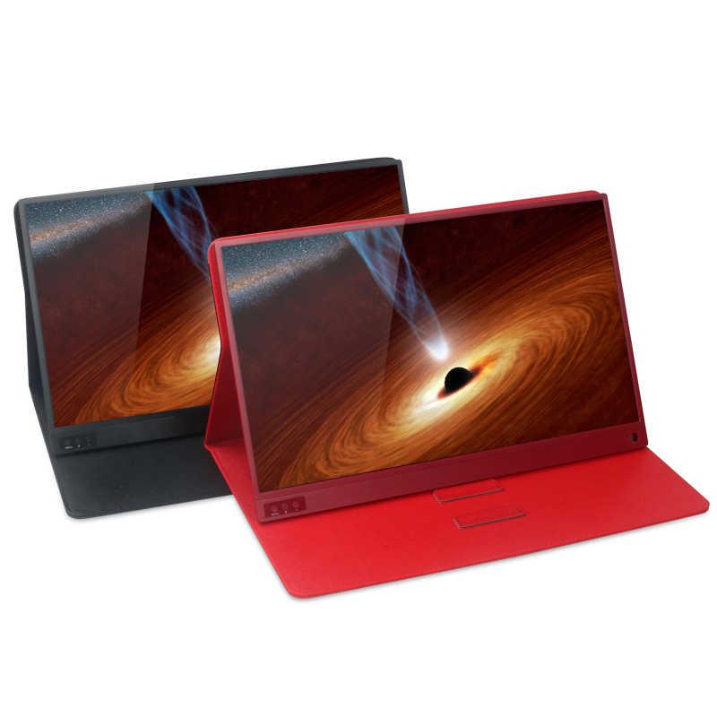Di động Màn Hình USB Loại C Full HD 1080 IPS MÀN HÌNH Máy Tính LCD 15.6 inch Tích Hợp 2 Loa Tương Thích với Laptop máy tính xách tay