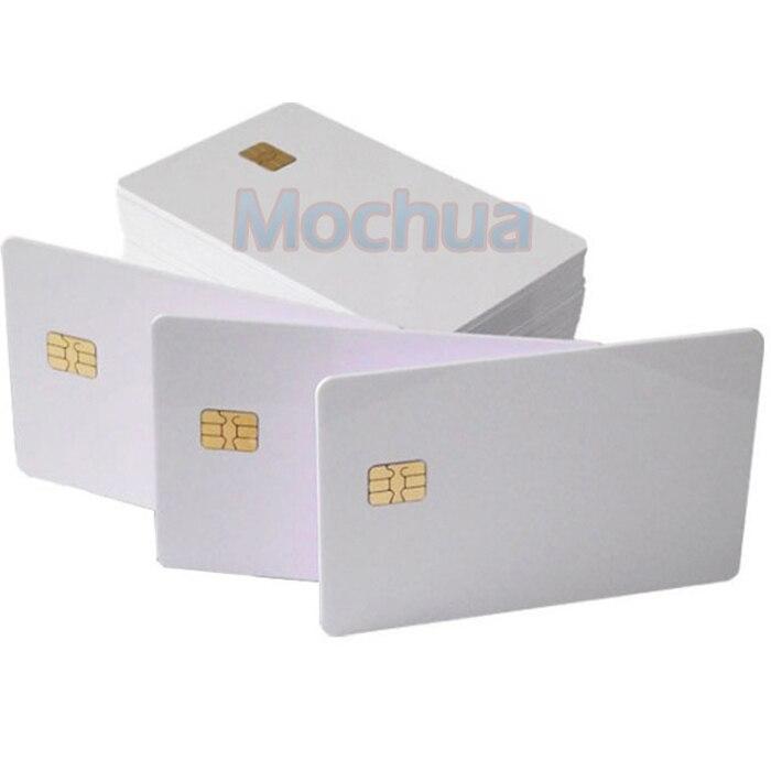 Контакт SLE4442 чип ISO7816 ПВХ Смарт IC карты-10 шт