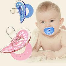Приспособления для сосков для новорожденных мальчиков и девочек, мягкая силиконовая ортопедическая соска для сна Nuk