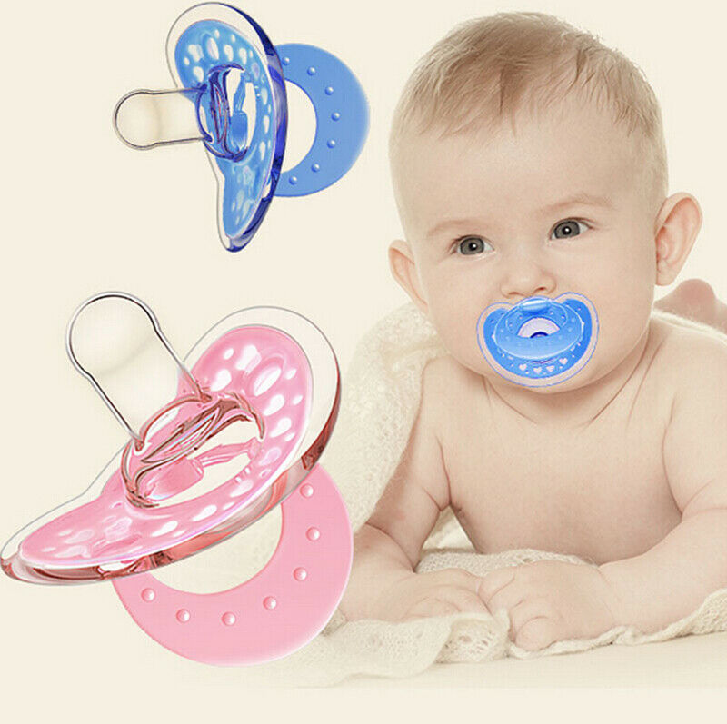 Newborn Infant Baby Boys Girls Nipple Supply Soft Silicone Orthodontic Nuk Pacifier Nipple Sleep Soother