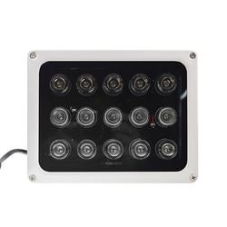 DC 12V CCTV iluminator Led 15 sztuk wysokiej mocy lampa Led IR wodoodporna noktowizor Led do kamera monitorująca na zewnątrz