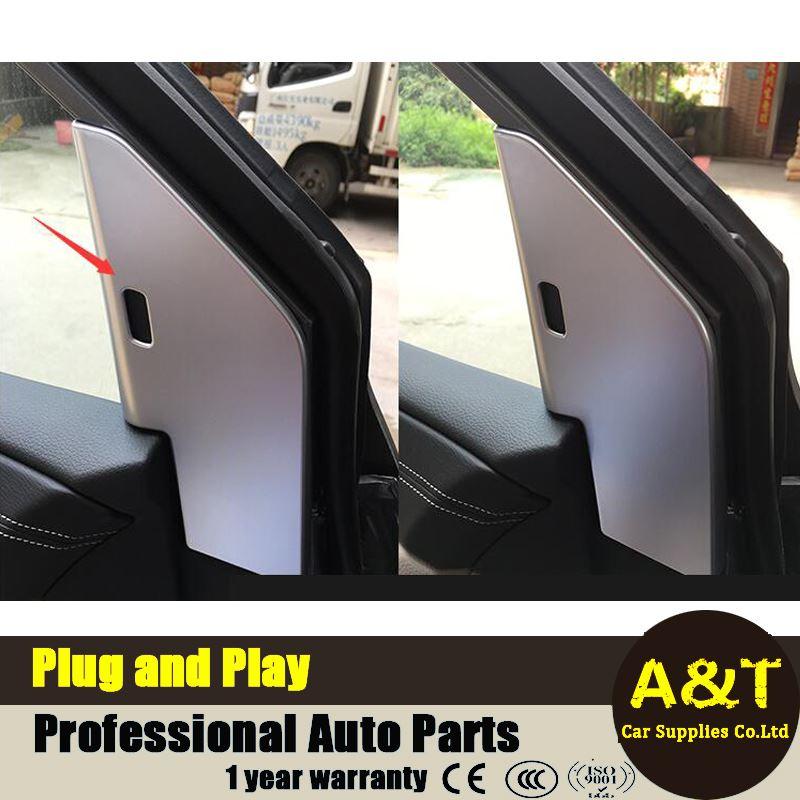JGRT 2016-2017 model car styling for Nissan Tiida high quality chrome inner front door window pillar cover decorative frame 2 pc & Front Door Pillars Promotion-Shop for Promotional Front Door ... Pezcame.Com