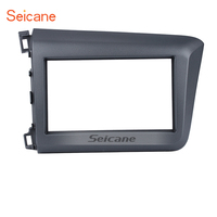 Seicane 178*100mm 2Din Car Radio Fascia Frame Cover Trim Kit Dashboard For Honda Civic LHD 2012