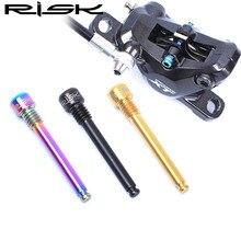 Cheapest prices RISK Titanium M4 Disc Brake Caliper Bolts Bike Brake Pads Plug For SHIMANO XT M8000 Bike Brake 3 Colors