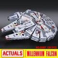 Лепин 05007 Звездные войны Тысячелетний Сокол Сборка building blocks marvel игрушка Совместим с 10467