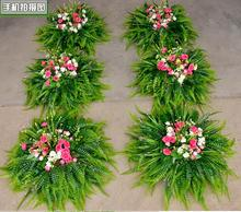 The new wedding ceremony road lead flower props simulation head silk big road.