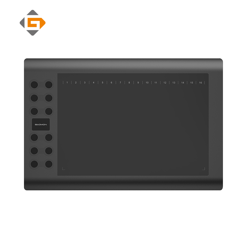 GAOMON M106K - 10 Inches Professional Digital Graphic Tablet for Drawing & Painting Art Writing Board with USB Rechargeable Pen