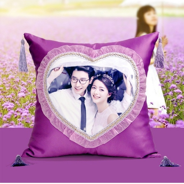 Custom DIY photo lovers Pillow Cover Vintage European  Pattern Cushion Cover Home Decorative  marry Pillow Case 45x45cm