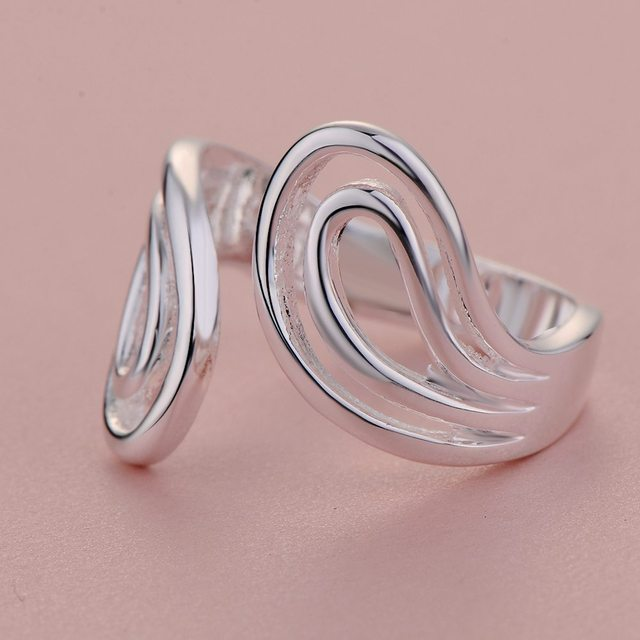 Wholesale 925 jewelry silver plated ring silver adjustable size ,fashion jewelry