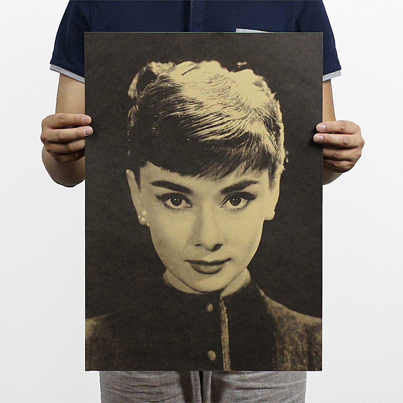 vintage audrey hepburn collection poster paper wall painting decor old posters decorative wall. Black Bedroom Furniture Sets. Home Design Ideas