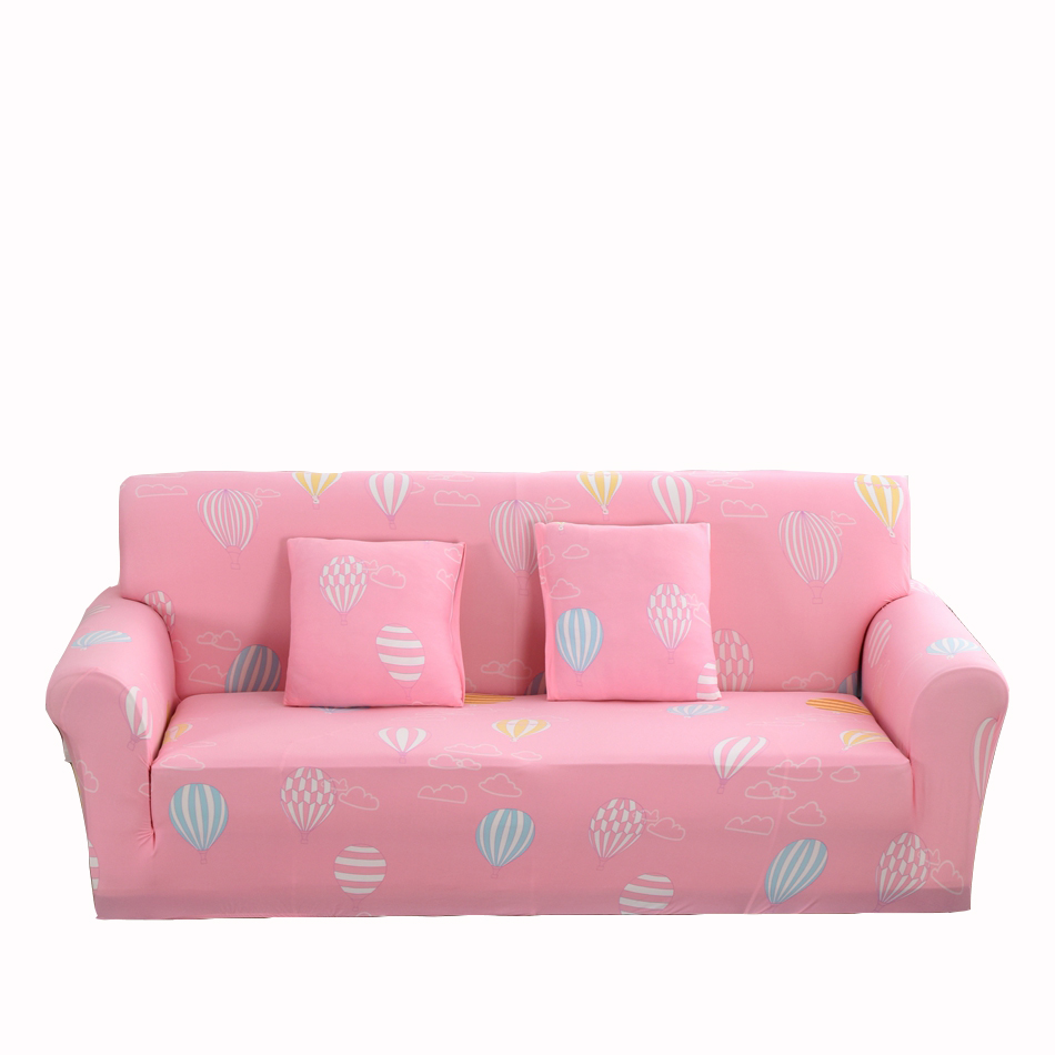 Pink Stretch Corner Sofa Covers For Living Room Multi Size