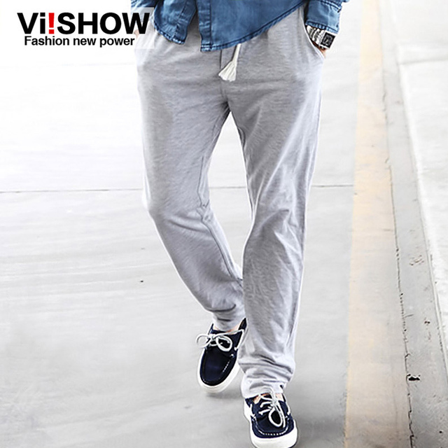 Viishow Solid Mens Pants Cotton Fashion Men Hip Hop Trpuser Loose Harem Cargo Pants for Men Brand Sweatpants vsk40009