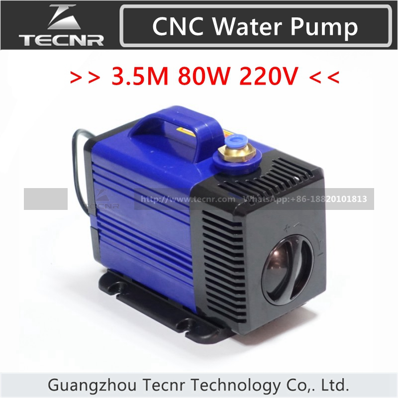 Submersible water pump 80W 3.5M for 1.5KW 2.2KW spindle motor cnc engraving machine