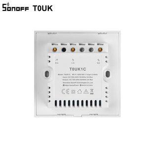 Image 5 - SONOFF T0 royaume uni Wifi commutateur intelligent 1/2/3 Gang sans fil mur tactile royaume uni commutateurs déclairage APP télécommande vocale pour Kit domotique