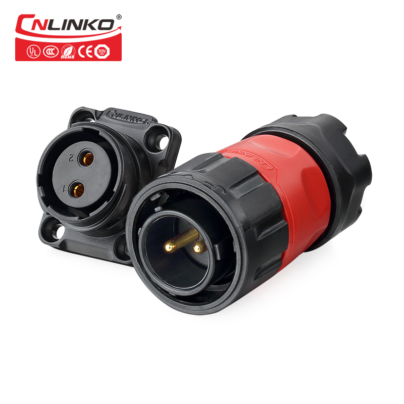 цена на 1 Set CNLINKO YM-20 Series m20 2 Pin Waterproof Connector sp13 Chassis Panel Mount Circular Aviation Plug Cable Connectors