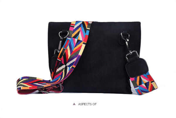 EXCELSIOR Women's Bag Scrub PU Crossbody Bags Luxury Handbags Women Bags Designer bolso mujer Colorful Strap sac a main femme 14
