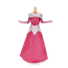 1 шт. модная одежда Роза Кружево платье куклы ручной работы платье длинное платье для куклы Барби Костюмы Обувь для девочек Подарки