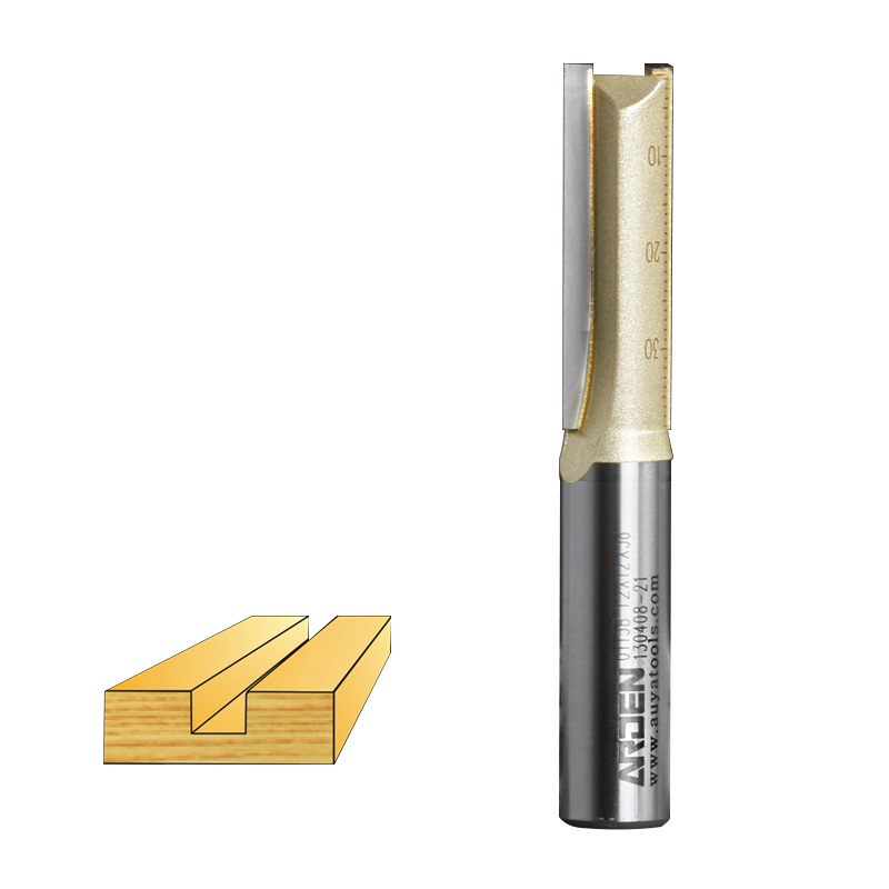 Holzbearbeitung Werkzeug 3 Grad Flöte Gerade Arden Router Bit - 1/2