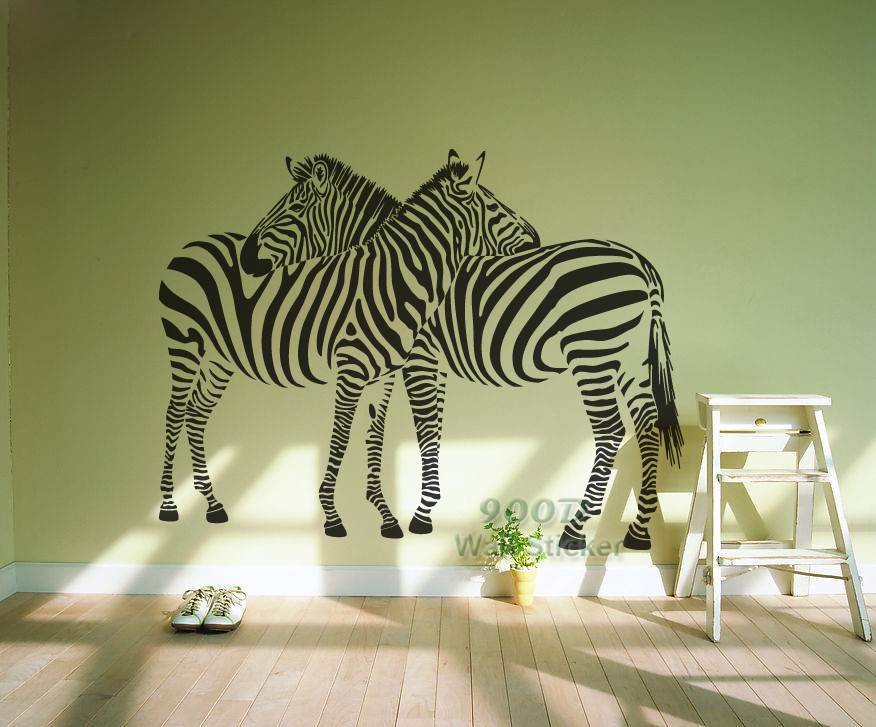 Buy new 2014 big zebra wall stickers home for Zebra decorations for home