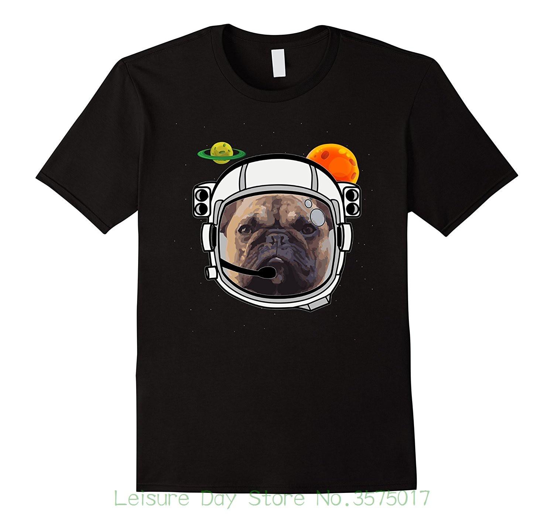 Мужские 100% хлопок короткий рукав печати Французский бульдог в пространстве футболка frenchie астронавт Дизайн