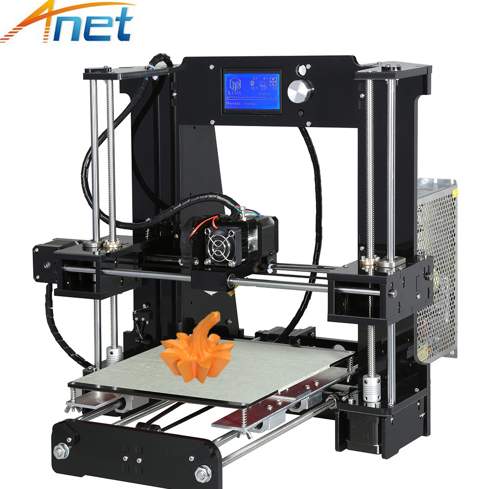 Anet Normal&Autolevel A6 3D Printer Precision Prusa i3 3D Printer DIY Kit with Filament + SD Card + Hotbed + Tools for Free 2017 high quality anet a6 a8 normal