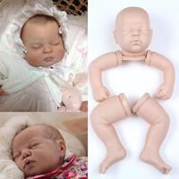 Simulation Soft Vinyl Doll Kits Head+3/4 Limbs for 22 Reborn Sleeping Dolls DIY Children Lifelike Toys Sleeping Accompany Calm