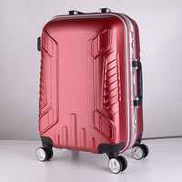 20 24 Inch Aluminum Frame Luggage Universal Wheel Trolley Password Lock Suitcase Sports Bag Abs PC
