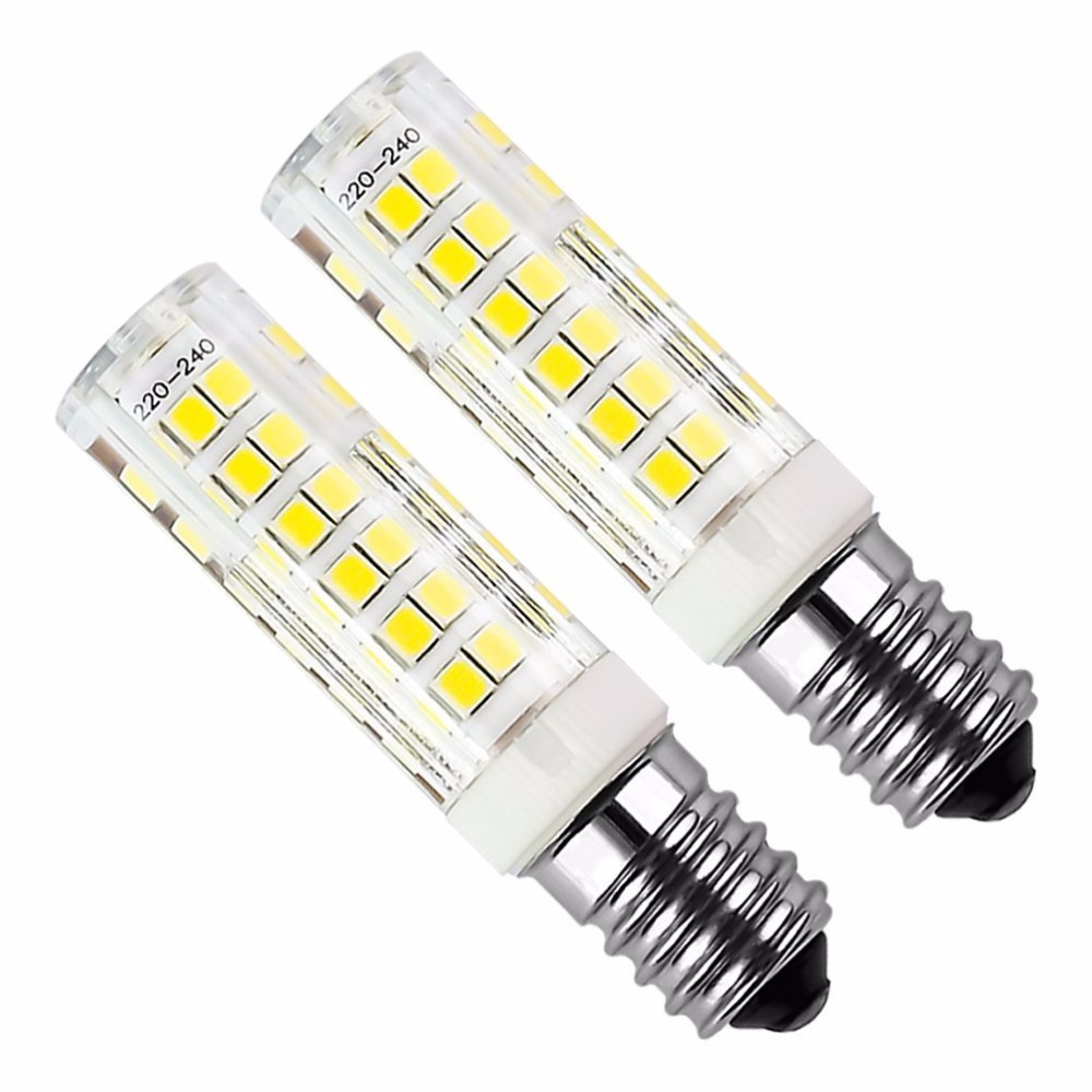 6pcs <font><b>E14</b></font> 5W LED Bulb 430lm 220V Cold White/Warm White <font><b>6000K</b></font> /3000k Hood Replacement Has Non-dimmable Halogen 75 2835smd lamp led image
