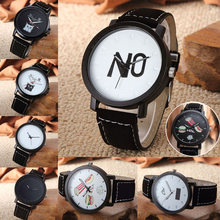 Haraiuku Style Women Man's Unisex Simple Personality Dial Wristwatch PU Leather Casual Clocks