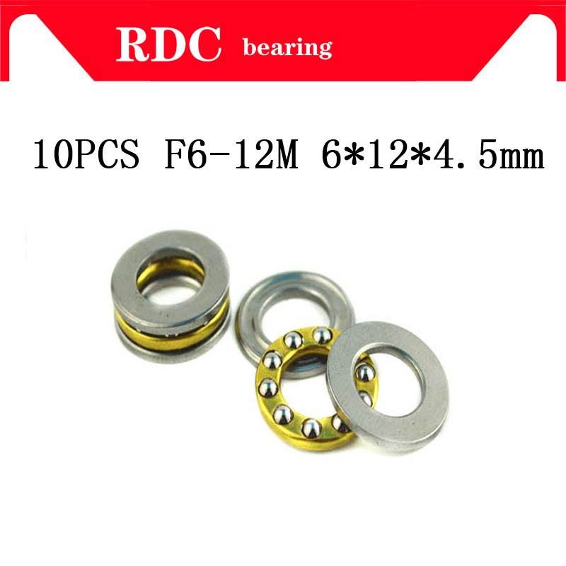 Free Shipping 10pcs F6-12M Axial Ball High Quality Thrust Bearing F6-12M 6mm X 12mm X 4.5mm F12-6 6 X 12 X 4.5 Mm