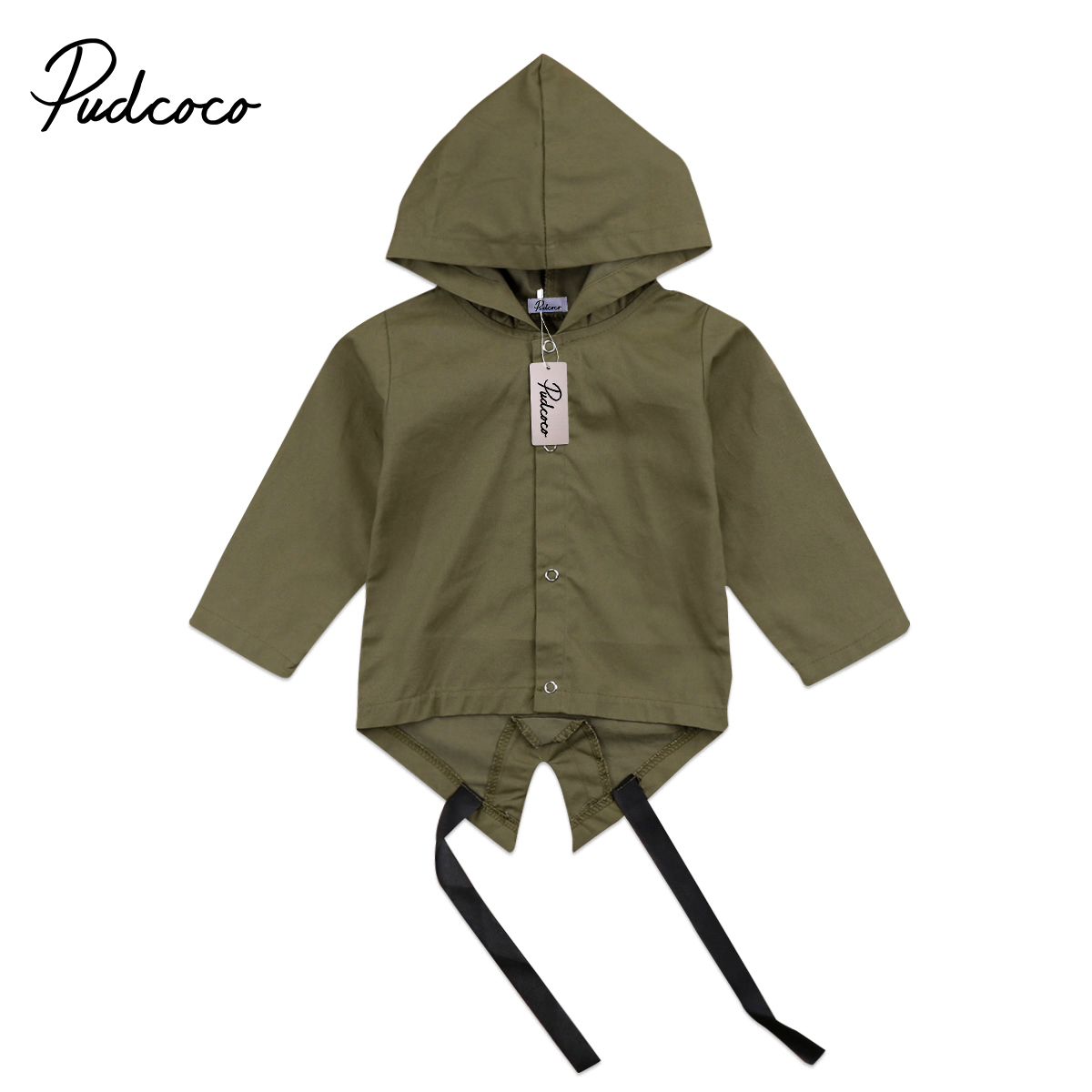 Pudcoco Newborn Baby Kids Girls Boys Long Sleeve Coat Toddler Hoodie Coat Outerwear Jacket Winter Clothing одежда на маленьких мальчиков