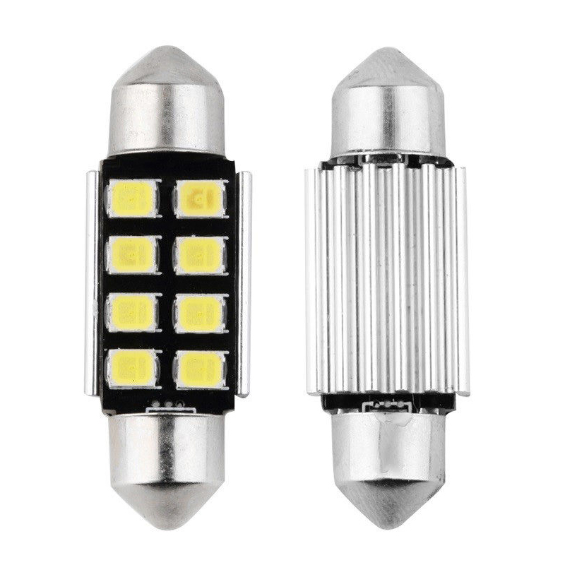 8 SMD Festoon Canbus LED Light Bulb 12V DC Replacement For Interior Lights Number Plate Lights Footwell Lights Reading Lights