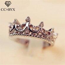 CC Crown Wedding Rings For Women Simple Romantic Bridal Engagement Jewelry Cubic Zirconia Cincin Wanita Drop Shipping CC1392